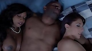 Black housewife and friend cum swapping